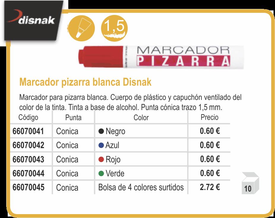 MARCADOR PIZARRA DISNAK